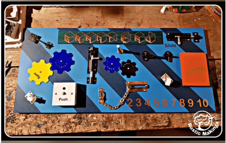 Gears Sensory Board for classroom