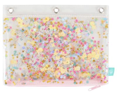 glitter stars pencil case