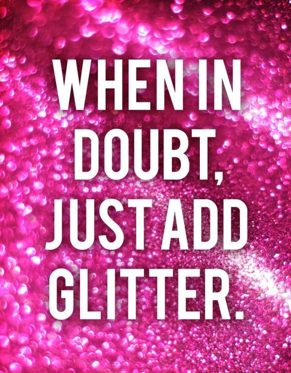 Add glitter in the classroom