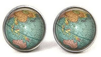 Globe teacher earrings