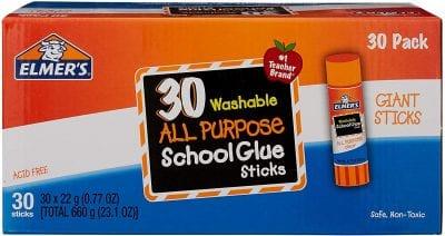 30 Washable ALL Purpose School Glue Sticks