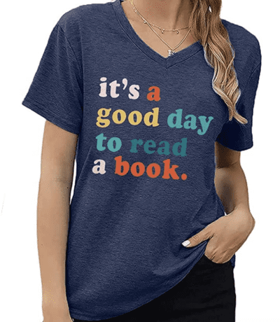Good day to read a book t-shirt