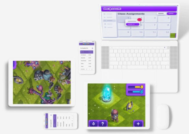 Screen shots of Dreamscape learning game on various devices