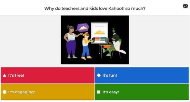 Screen shot of Kahoot!