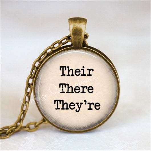 grammar necklace - teacher jewelry