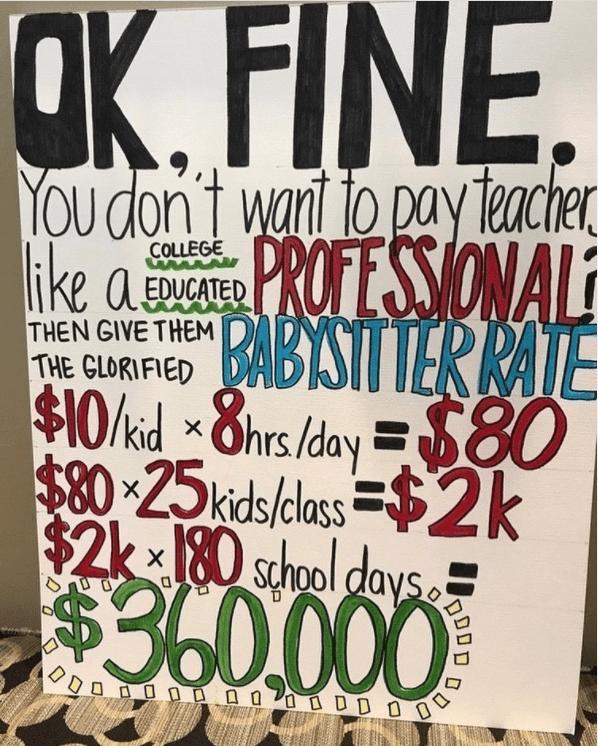 Memes teacher pay