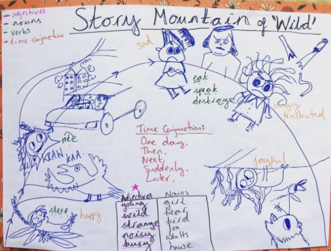 Story mountain graphic organizer for Wild