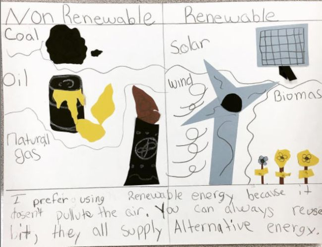 T Chart for renewable and non-renewable energy sources (Graphic Organizers)