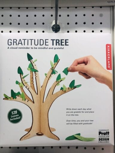 Artificial gratitude tree product from target