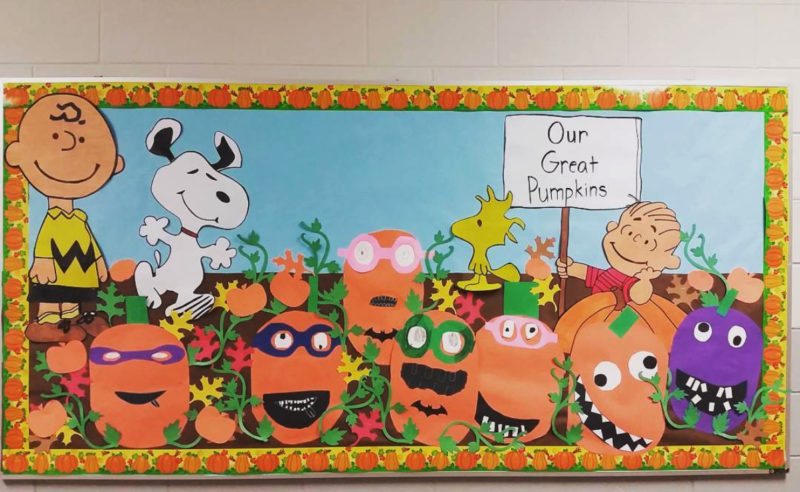 Great Pumpkin fall bulletin boards