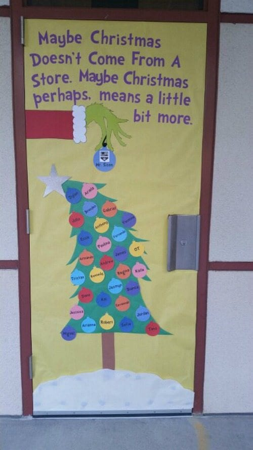 Christmas Display Ideas For Nursery.Amazing Classroom Doors For Winter And The Holidays