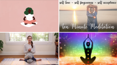 Collage for teacher guided meditations