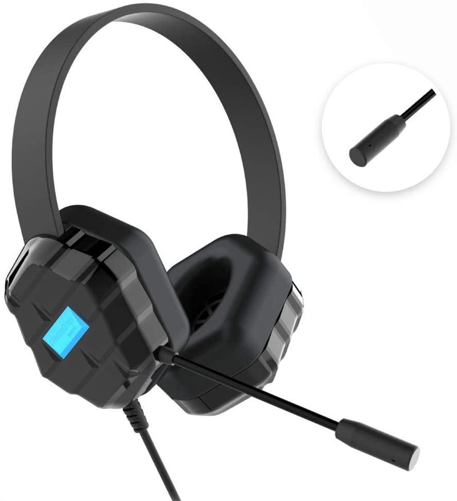 GumDrop DropTech B1 headset with closeup of microphone
