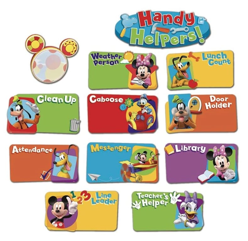 Mickey Mouse Clubhouse® Handy Helpers Job Chart Mini Bulletin Board Set