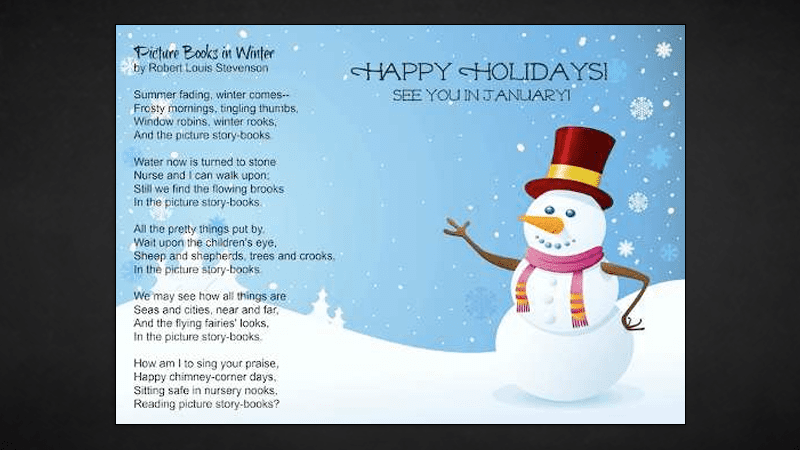 Winter Holiday Printable: Robert Louis Stevenson\'s Picture Books in ...