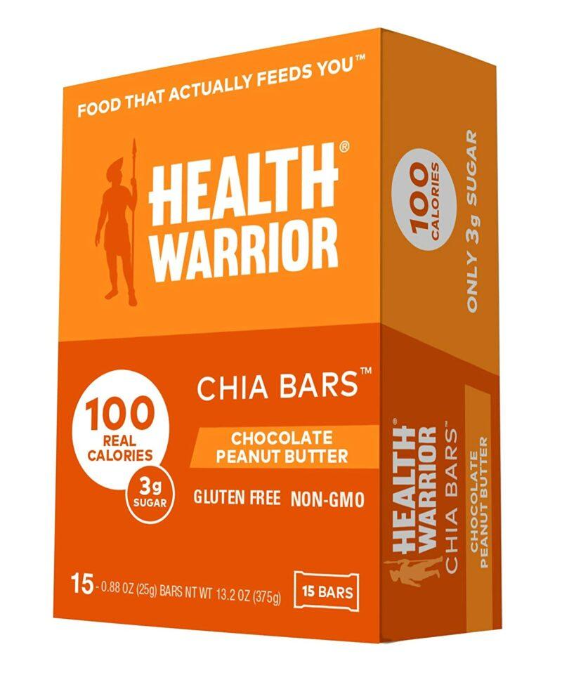 HEALTH WARRIOR Çikolata Fıstık Ezmesi Chia Barlar