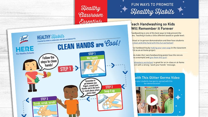Flay lay of Healthy Habits 2021 Teacher Guide