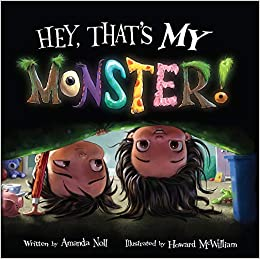 Book cover for Hey, That's My Monster as an example of kids books about monsters
