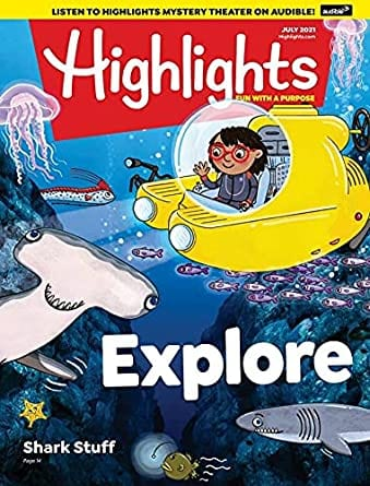 Sample issue of Highlights for Children magazine as an example of best magazines for kids