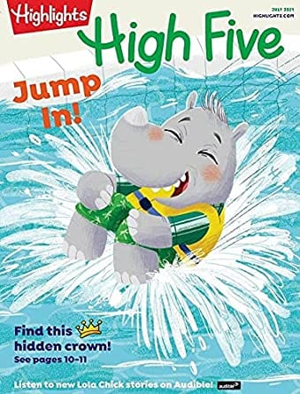 Sample issue of Highlights High Five magazine as an example of best magazines for kids