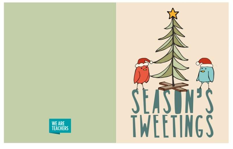 Season's Tweetings card
