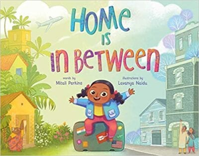 Book cover for Home is In Between as an example of children's books that teach social skills