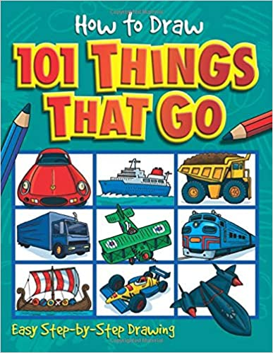 Book cover for How to Draw 101 Things That Go as an example of drawing books for kids