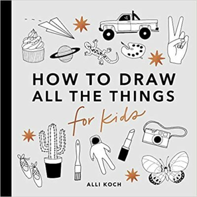 Book cover for How To Draw All The Things For Kids as an example of drawing books for kids