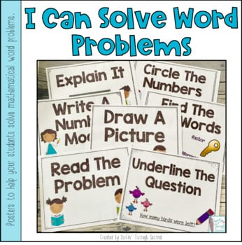 """Cover of """"I can solve word problems"""""""
