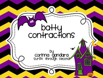 "Book cover of ""batty contractions"" by Corrina Gandara."
