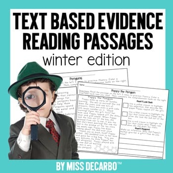 """""""Text based evidence reading passages"""" by Miss DeCarbo"""
