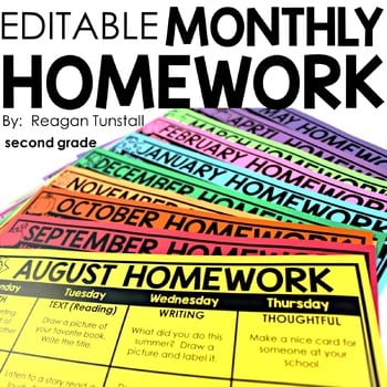 """Editable monthly homework"" by Reagan Tunstall"