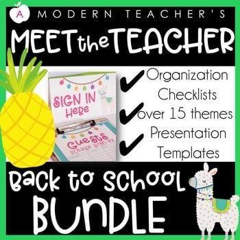 """""""Meet the teacher back to school bundle"""" by A Modern Teacher"""