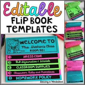 """""""Editable flip book templates"""" by Learning in Wonderland"""