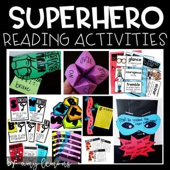 """Superhero reading activities"" by Amy Lemons"