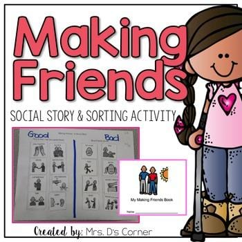 """""""Making friends, social story and sorting activity"""" by Ds Corner"""