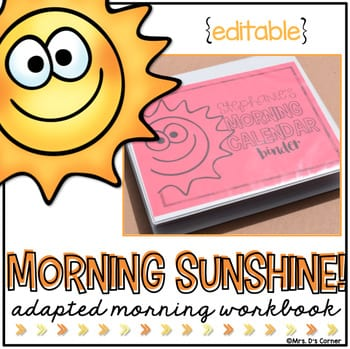 """""""Morning sunshine, adapted morning workbook"""" by Ds Corner"""