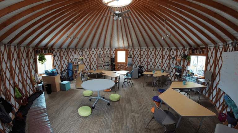 Learning in a Yurt Classroom