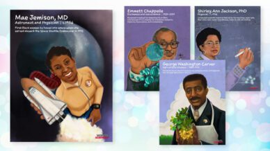 Image of four inspirational African American scientists
