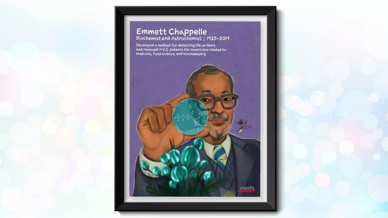 Black scientist poster featuring Emmett Chappell