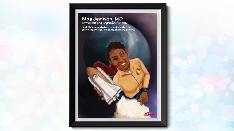 Black scientist poster featuring Mae Jemison
