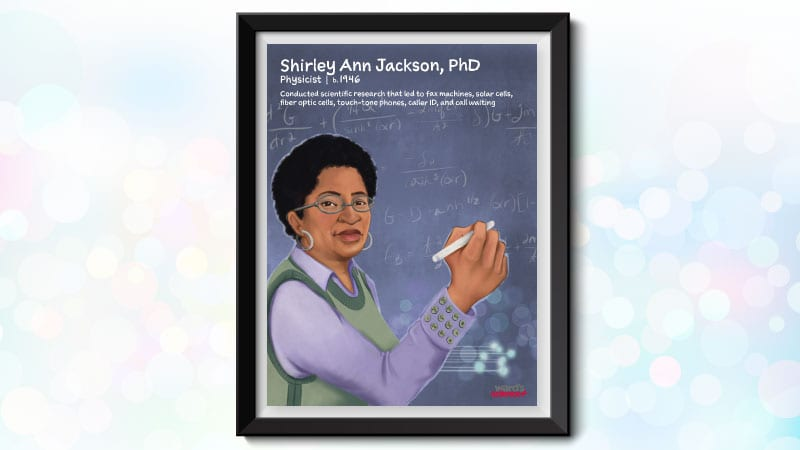 Poster image of Black scientist Shirley Ann Jackson, PhD