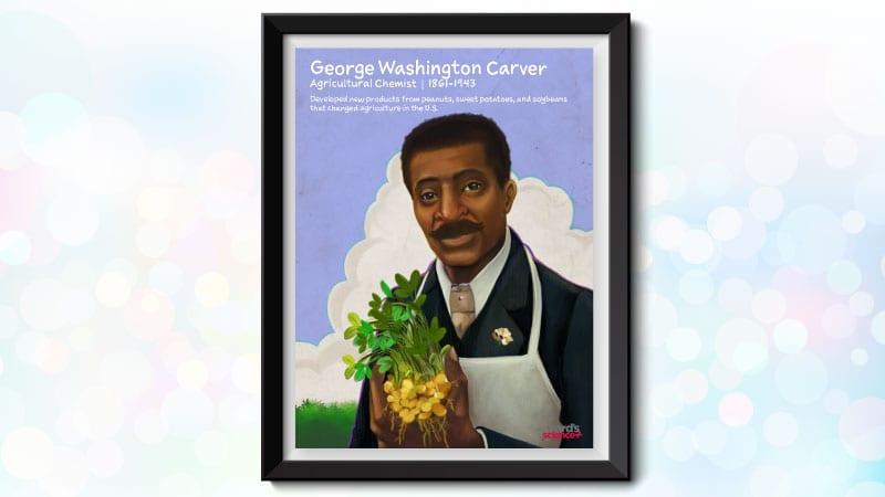 Poster of Black scientist George Washington Carver