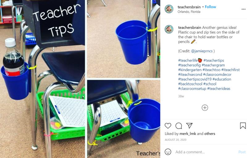 Still of desk holder ideas for the classroom