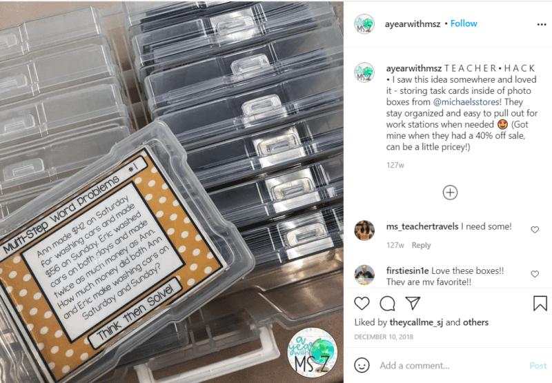 Still of Instagram teacher hacks