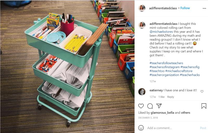 Still of classroom rolling cart ideas