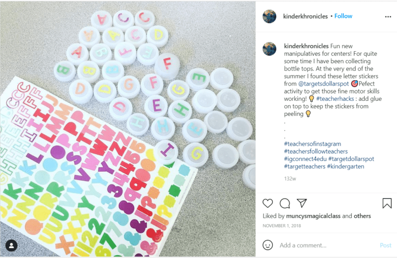 Still of tips for using bottle caps in the classroom