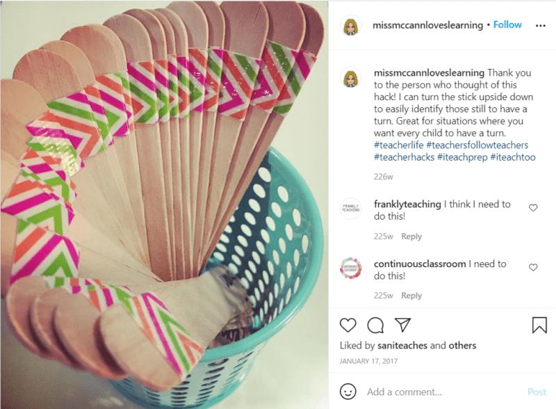 Still of teacher hacks for popsicle sticks