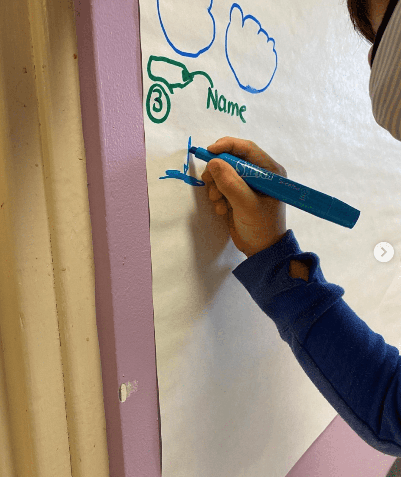 Child flow interactive writing