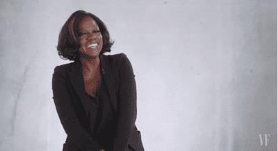 Viola Davis laughing